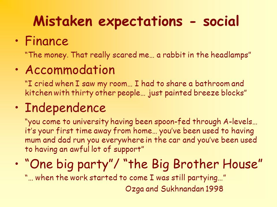 Mistaken expectations - social Finance The money.