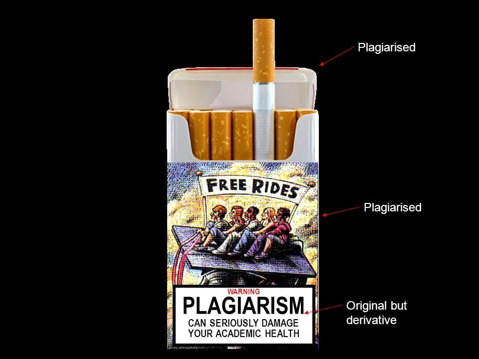 WARNING PLAGIARISM CAN SERIOUSLY DAMAGE YOUR ACADEMIC HEALTH Plagiarised Original but derivative