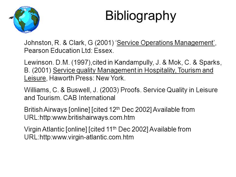 Bibliography Johnston, R.
