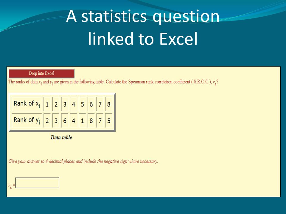 A statistics question linked to Excel