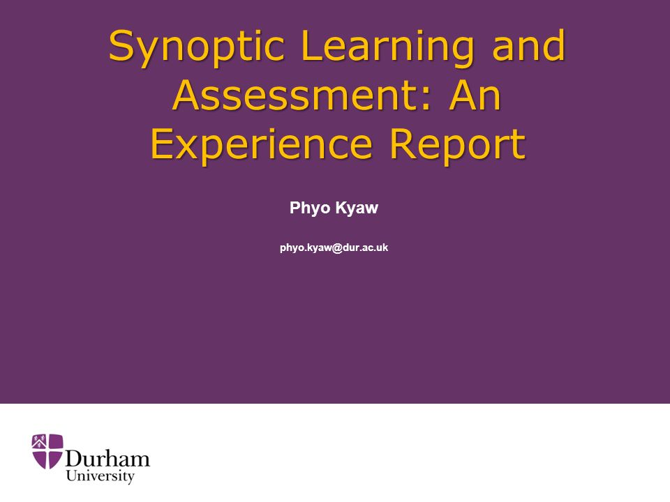 Synoptic Assessments