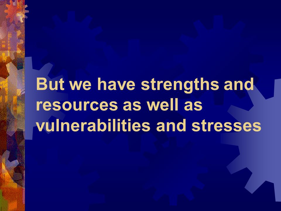 Vulnerabilit y Resilience Current stressors Social capital Likelihood of mental distress + +