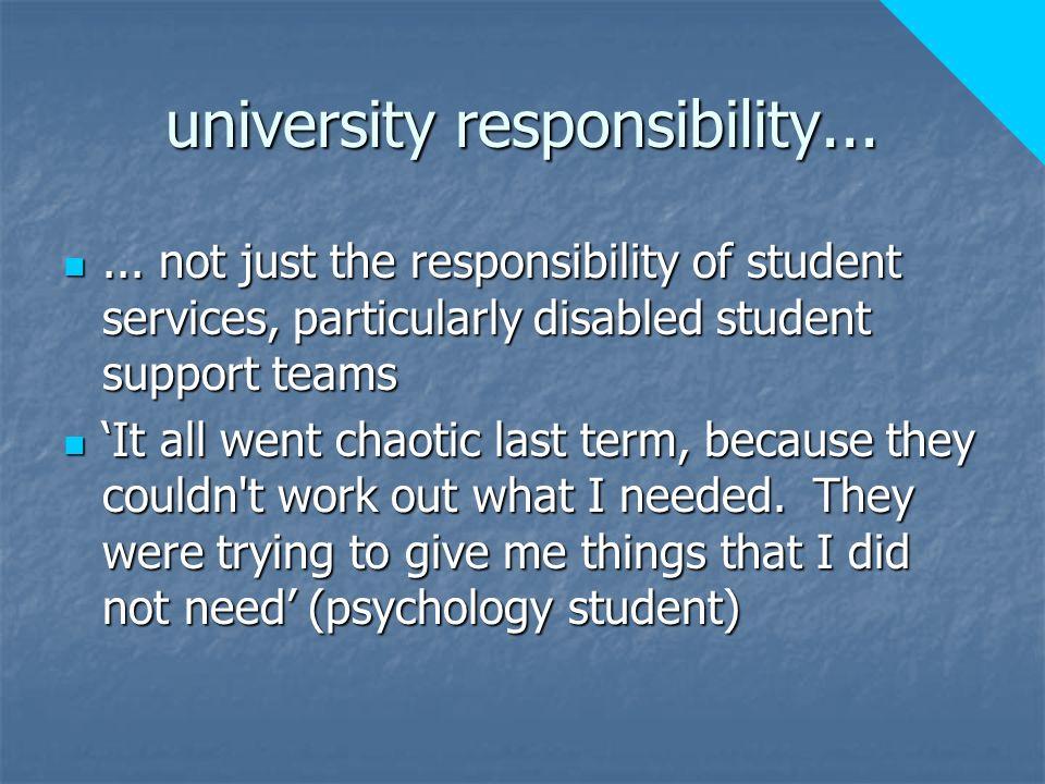 university responsibility......