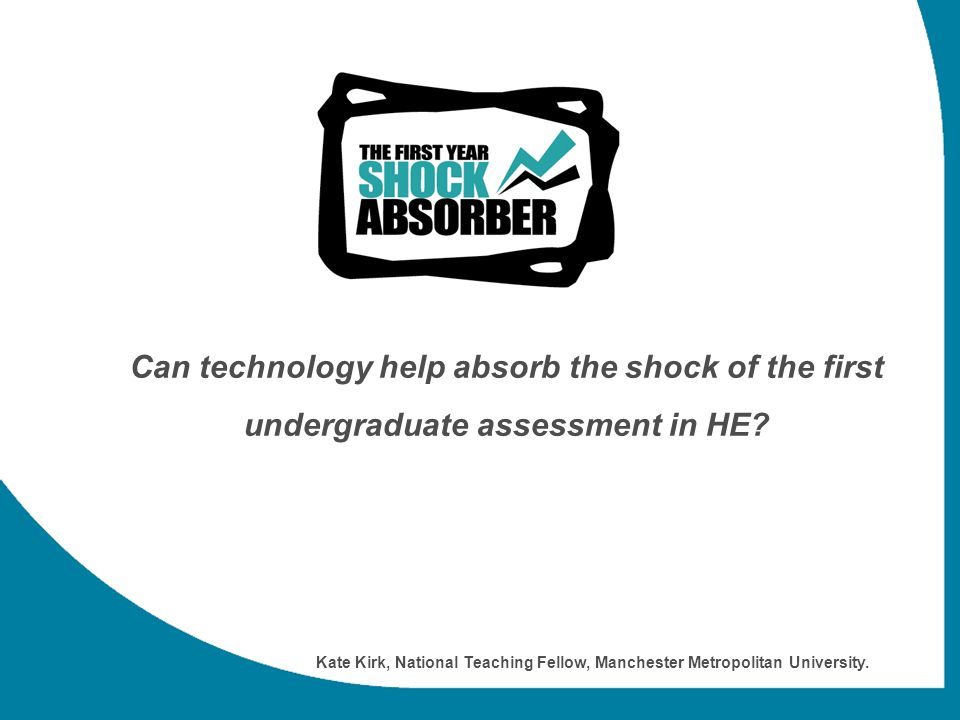 Can technology help absorb the shock of the first undergraduate assessment in HE.