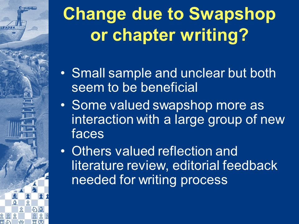 Change due to Swapshop or chapter writing.