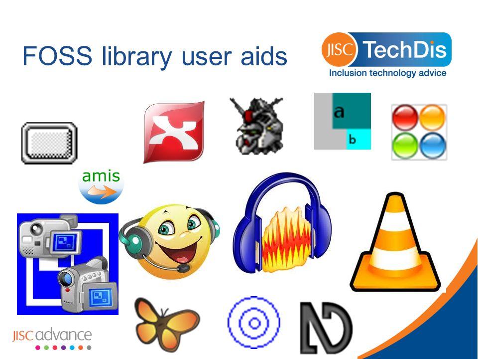 FOSS library user aids