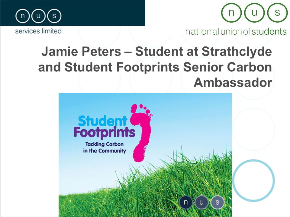 Jamie Peters – Student at Strathclyde and Student Footprints Senior Carbon Ambassador