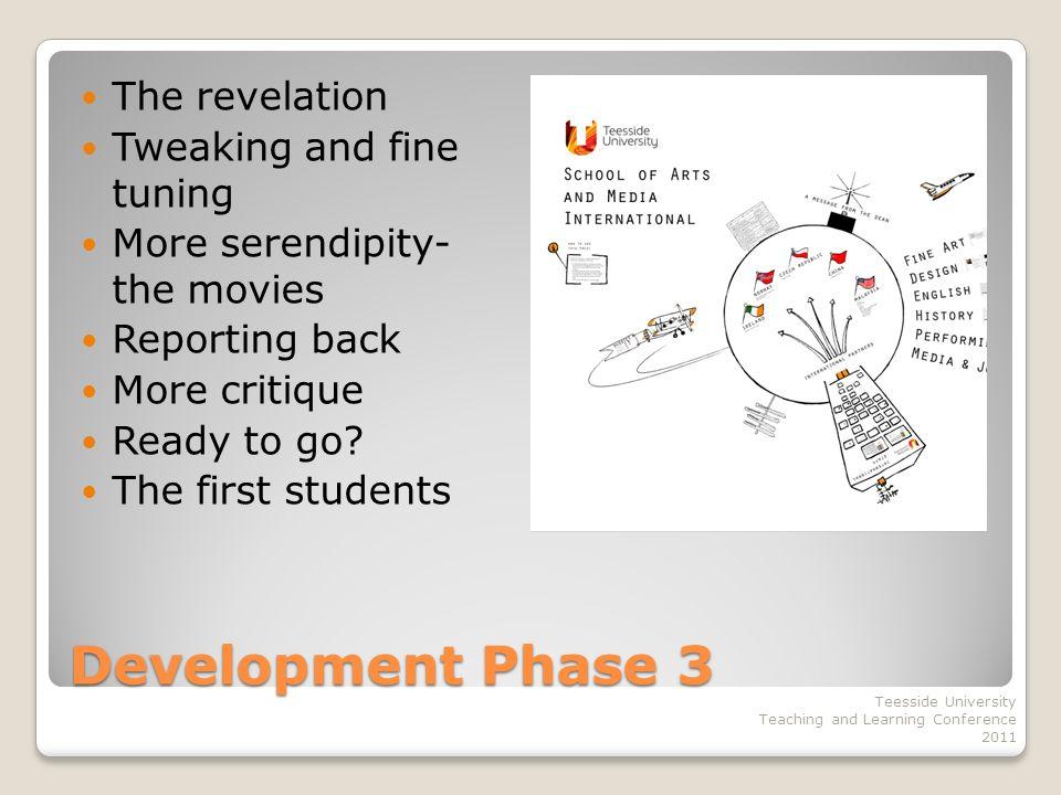 Development Phase 4 What next.