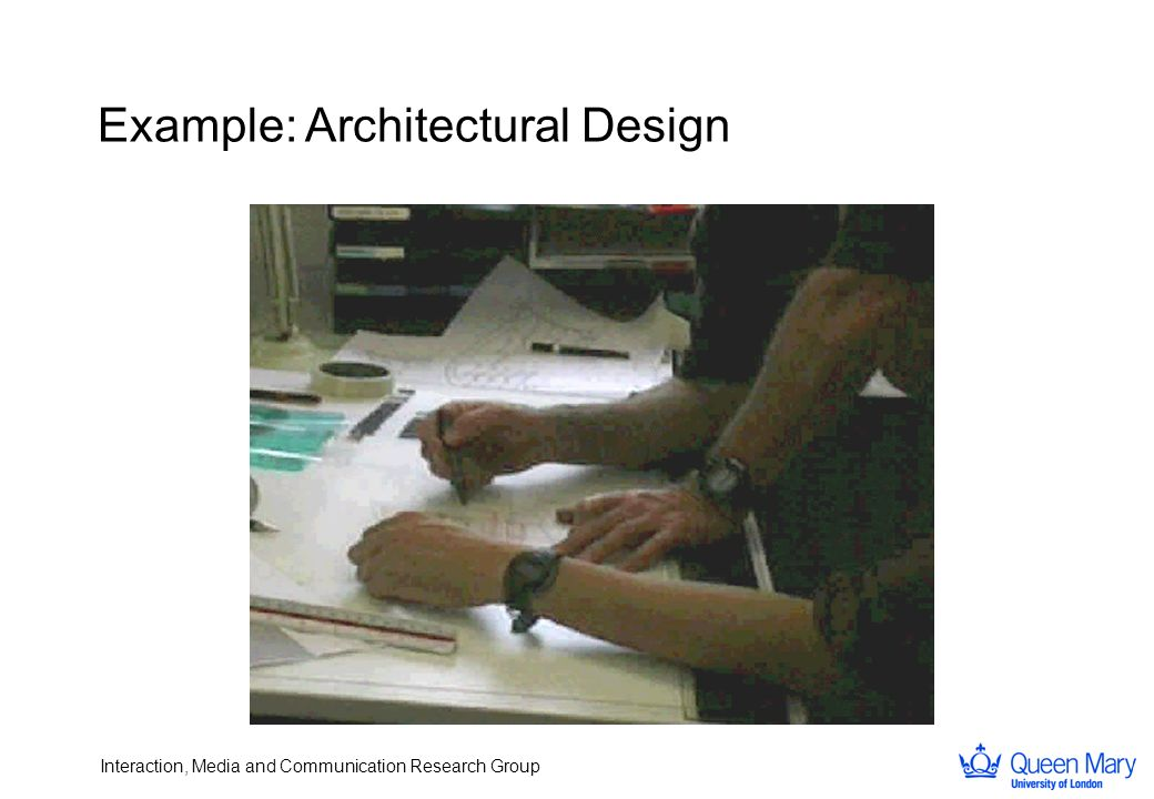 Interaction, Media and Communication Research Group Example: Architectural Design