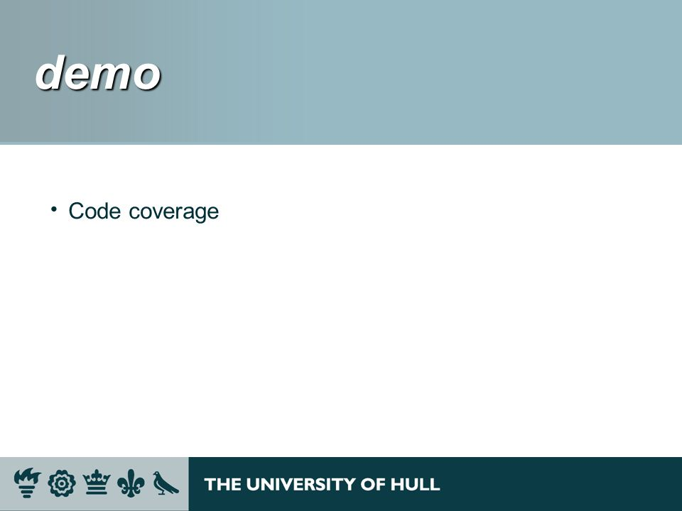 demo demo Code coverage