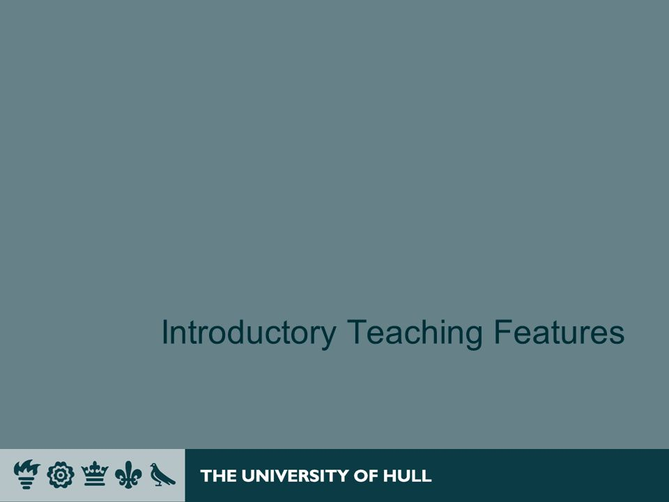 Introductory Teaching Features