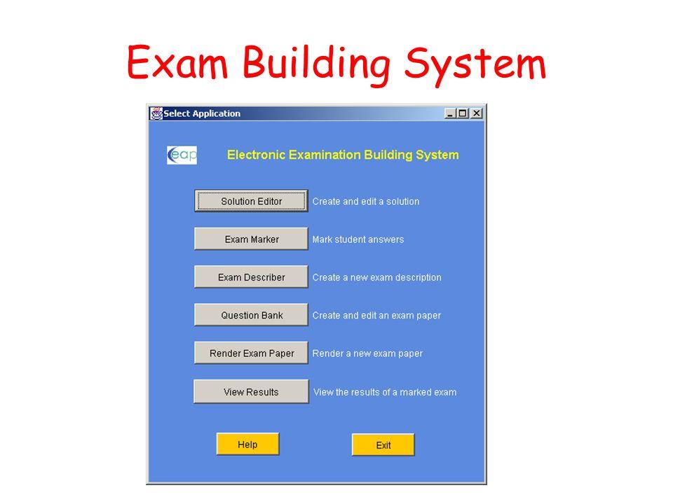 Exam Building System