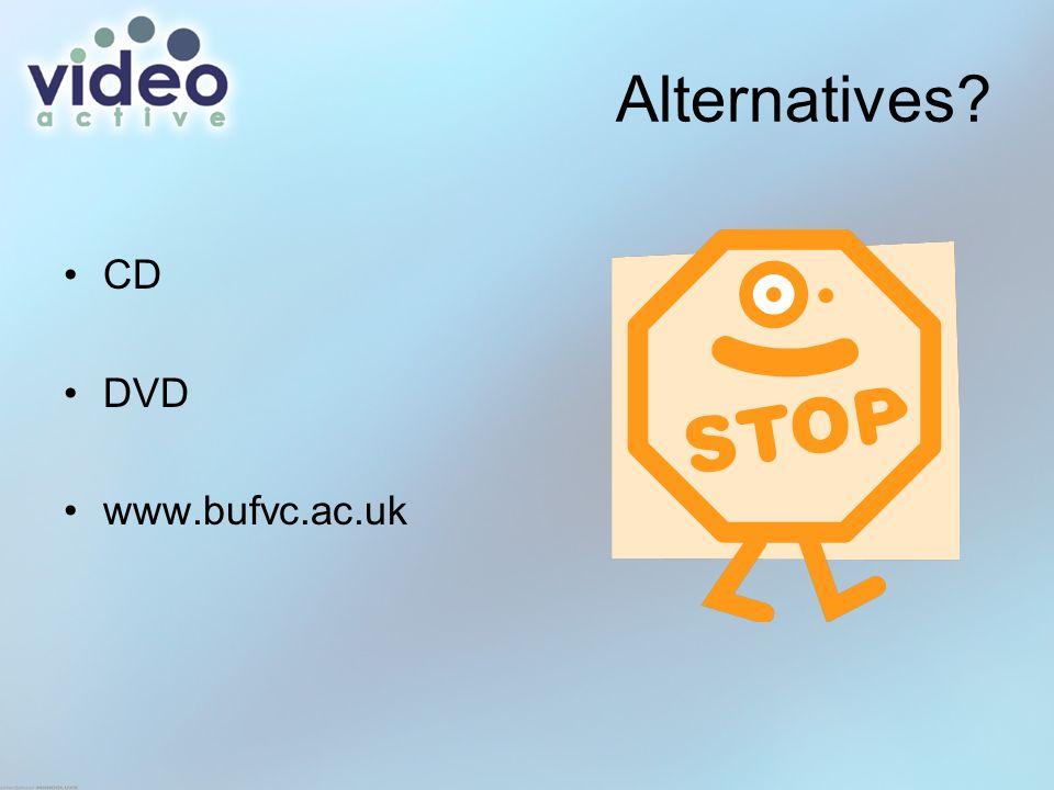 Alternatives? CD DVD www.bufvc.ac.uk