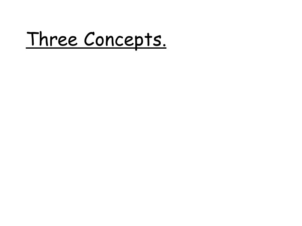 Three Concepts.