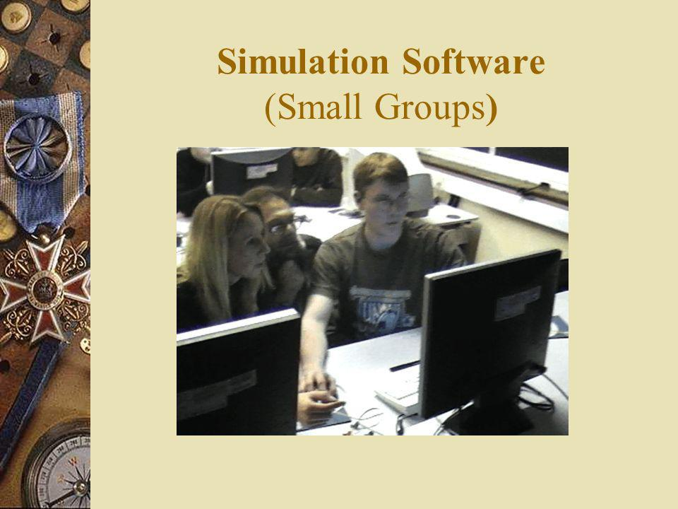 Simulation Software (Small Groups)
