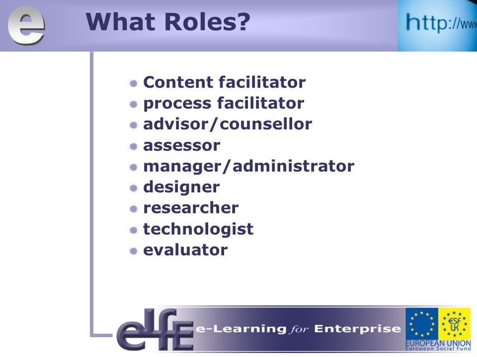 What Roles.