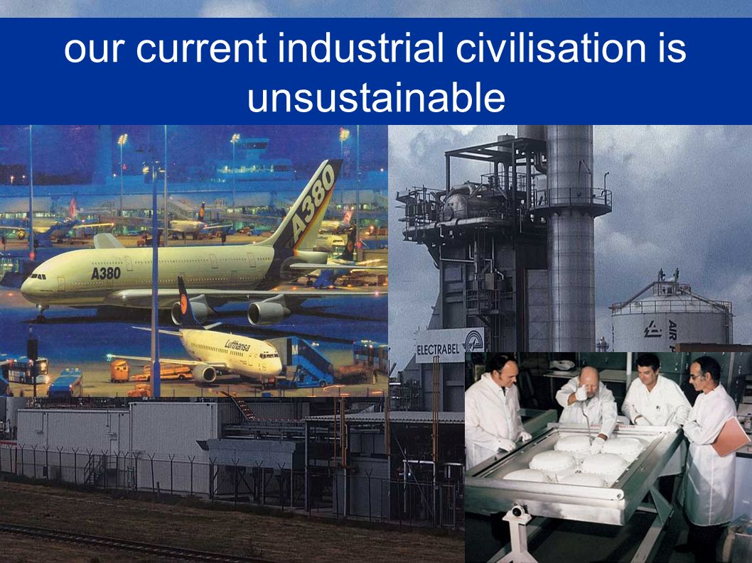our current industrial civilisation is unsustainable