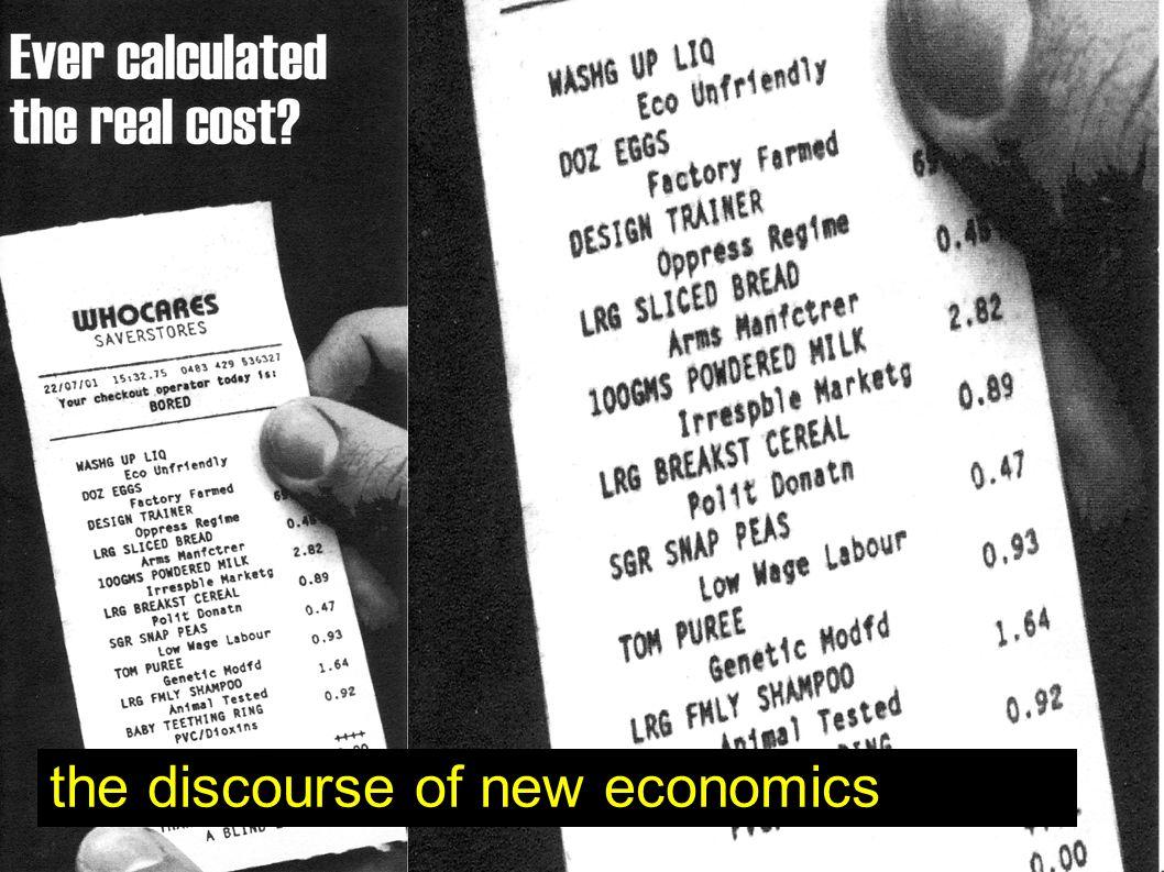 the discourse of new economics