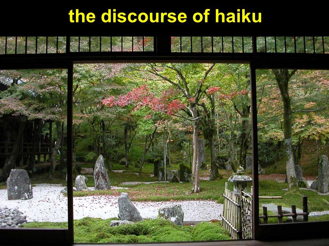 the discourse of haiku
