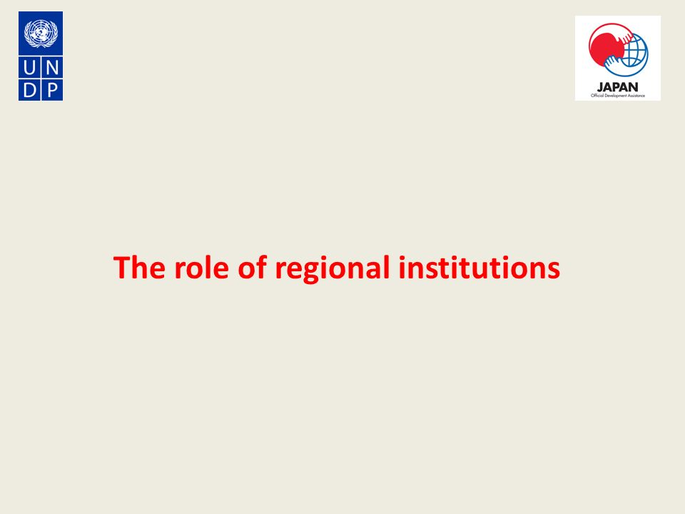The role of regional institutions