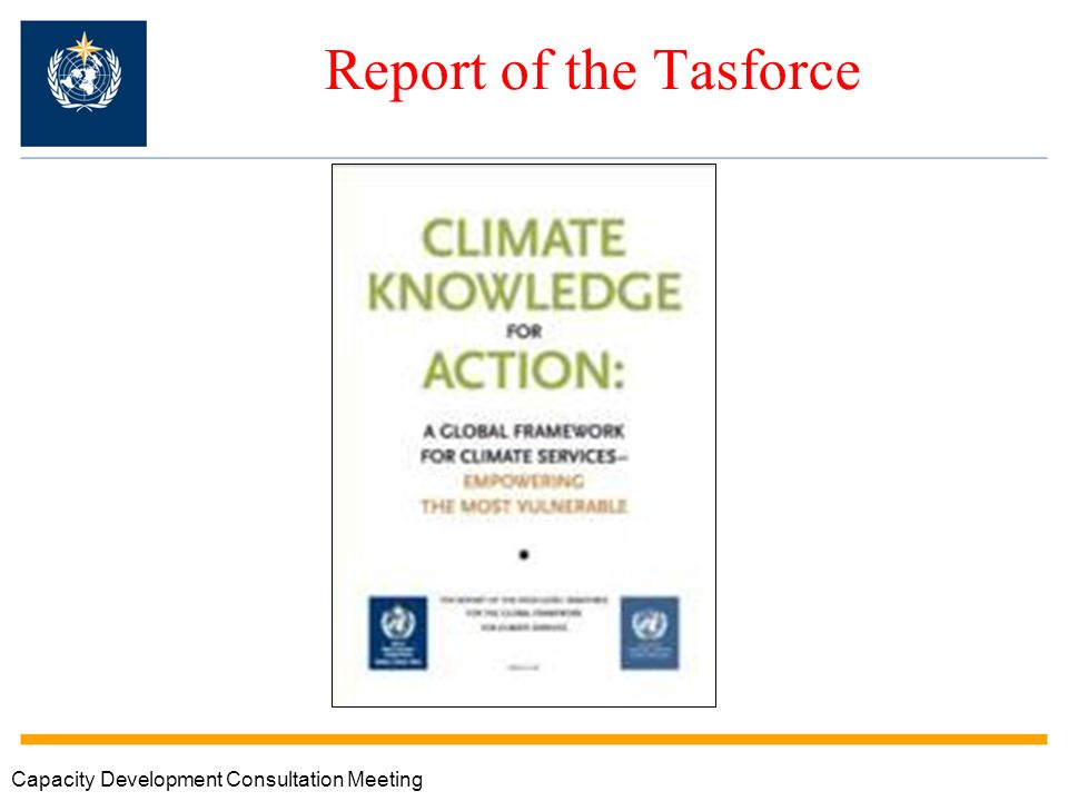 Report of the Tasforce Capacity Development Consultation Meeting
