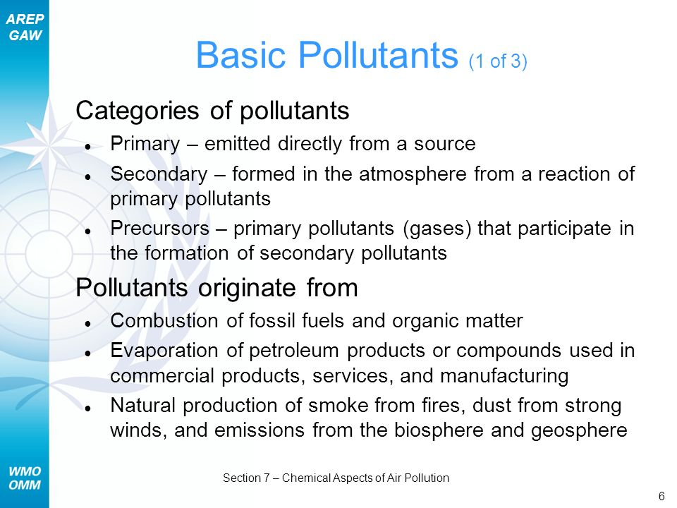 AREP GAW Section 7 – Chemical Aspects of Air Pollution 47 EU/USA