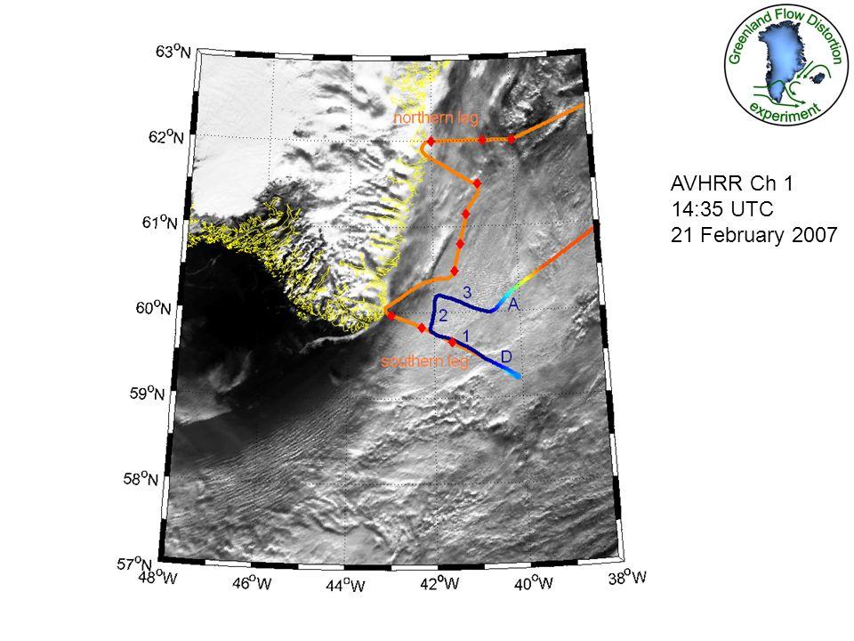 AVHRR Ch 1 14:35 UTC 21 February 2007