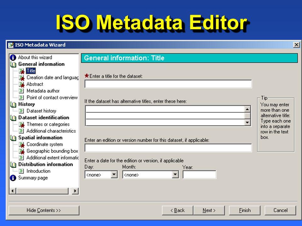 ISO Metadata Editor