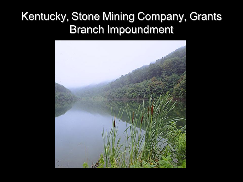 Kentucky, Stone Mining Company, Grants Branch Impoundment