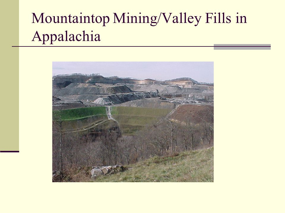 Mountaintop Mining/Valley Fills in Appalachia