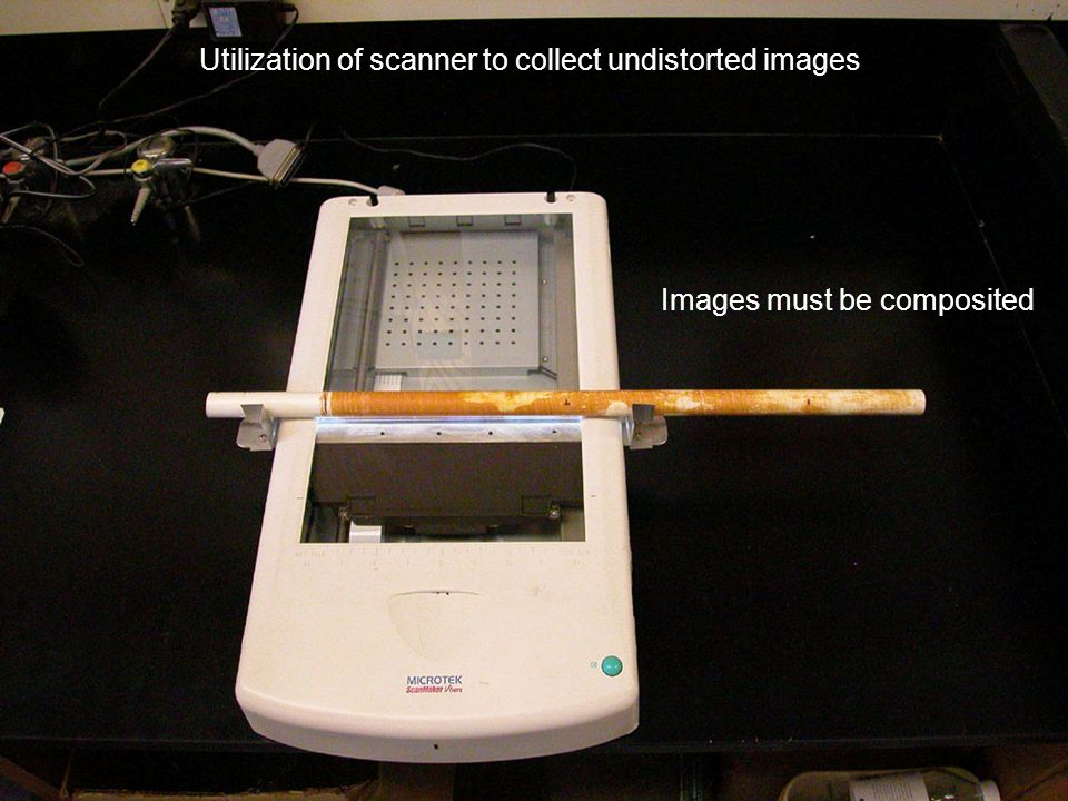 Utilization of scanner to collect undistorted images Images must be composited