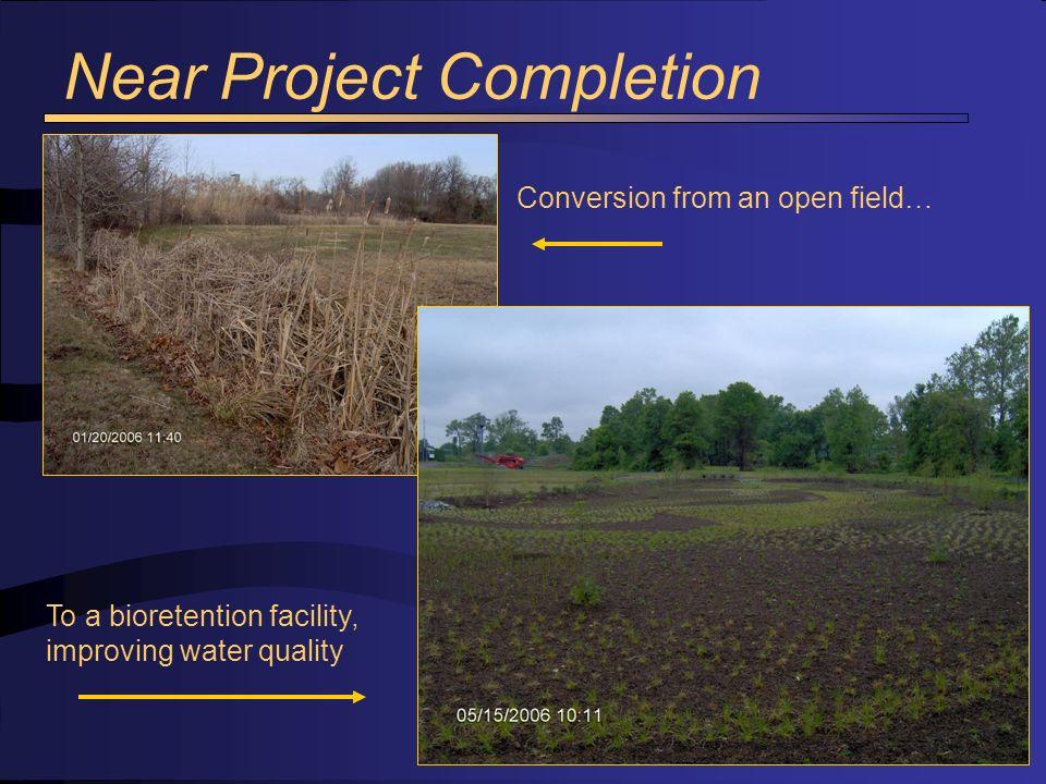 Fore bay to bioretention basin