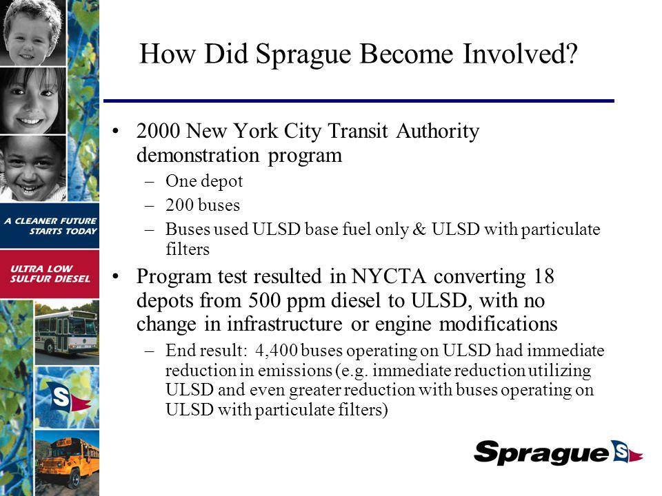 How Did Sprague Become Involved.