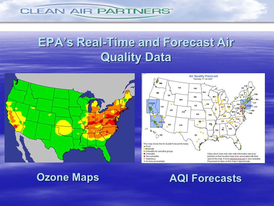 EPAs Real-Time and Forecast Air Quality Data Ozone Maps AQI Forecasts