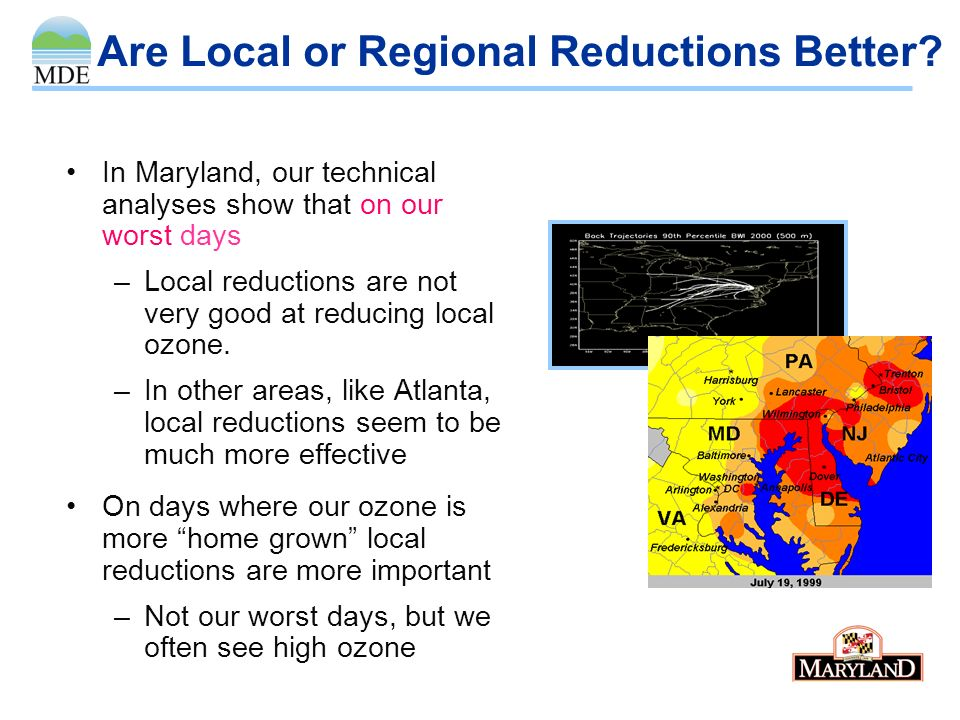 Who is Contributing to Marylands Ozone Problem? From EPAs modeling to support the 22 state regional NOx reduction program called the NOx SIP Call