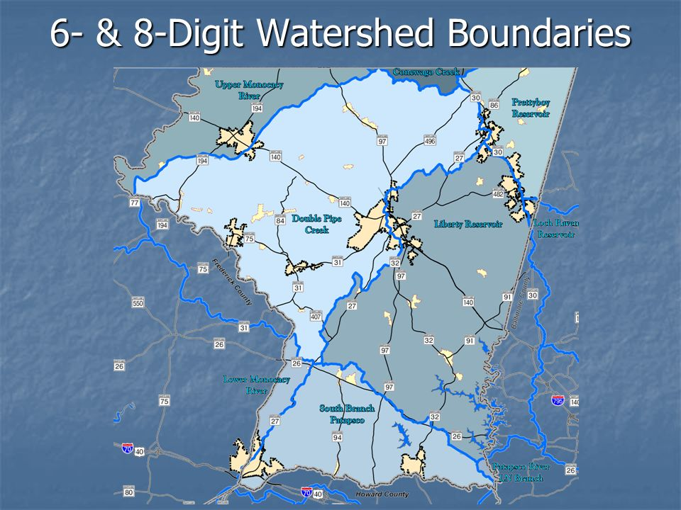 6- & 8-Digit Watershed Boundaries