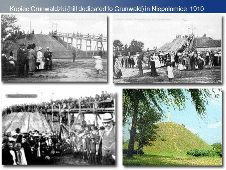 Kopiec Grunwaldzki (hill dedicated to Grunwald) in Niepolomice, 1910