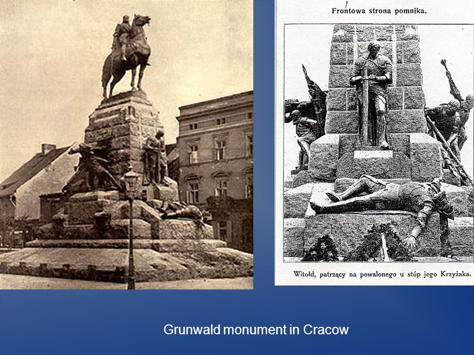 Grunwald monument in Cracow