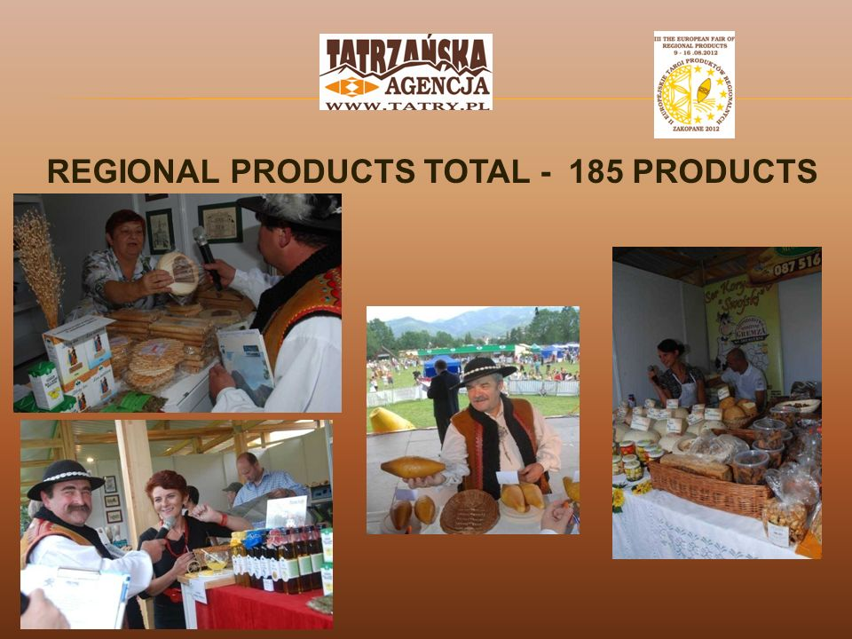 REGIONAL PRODUCTS TOTAL - 185 PRODUCTS