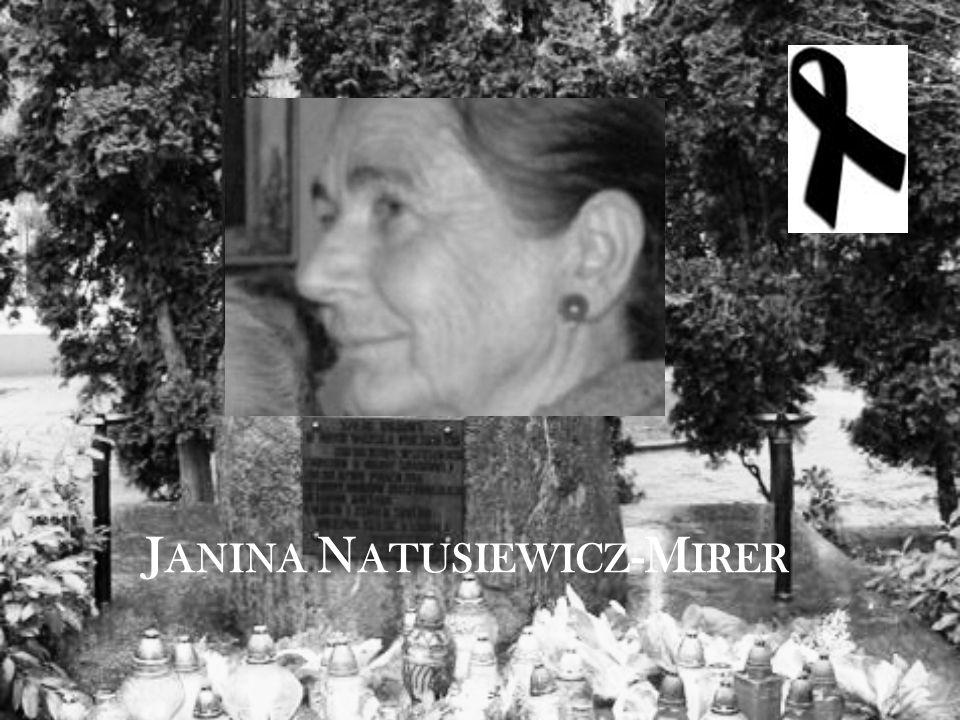J ANINA N ATUSIEWICZ -M IRER
