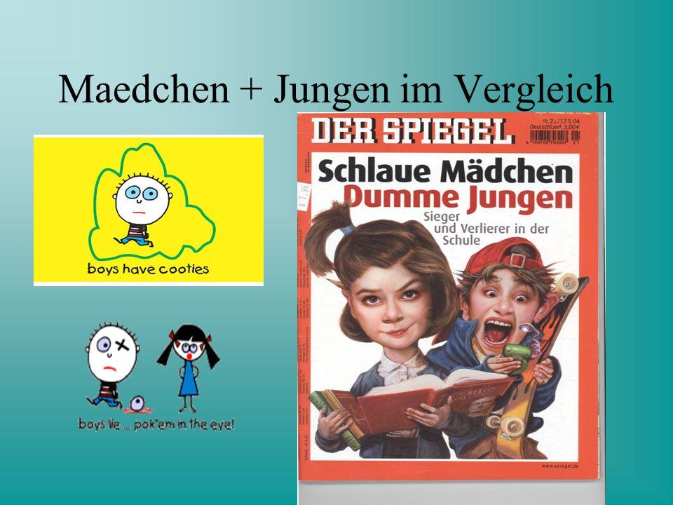 Maedchen + Jungen im Vergleich