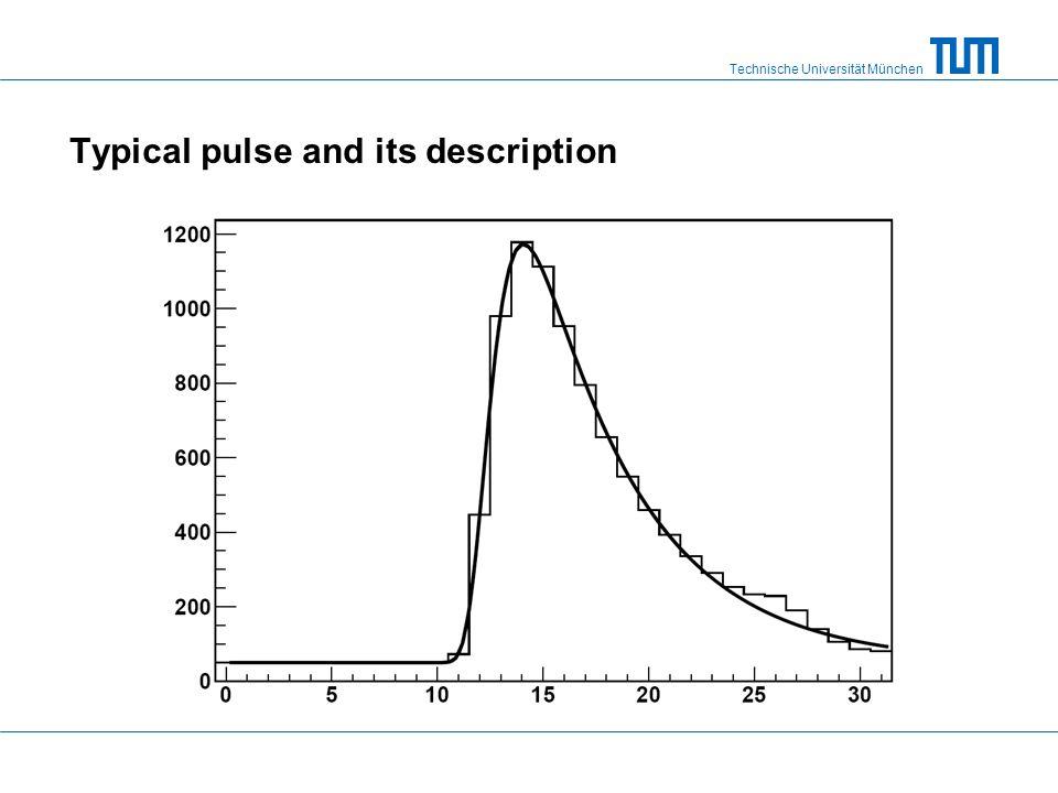 Technische Universität München Typical pulse and its description