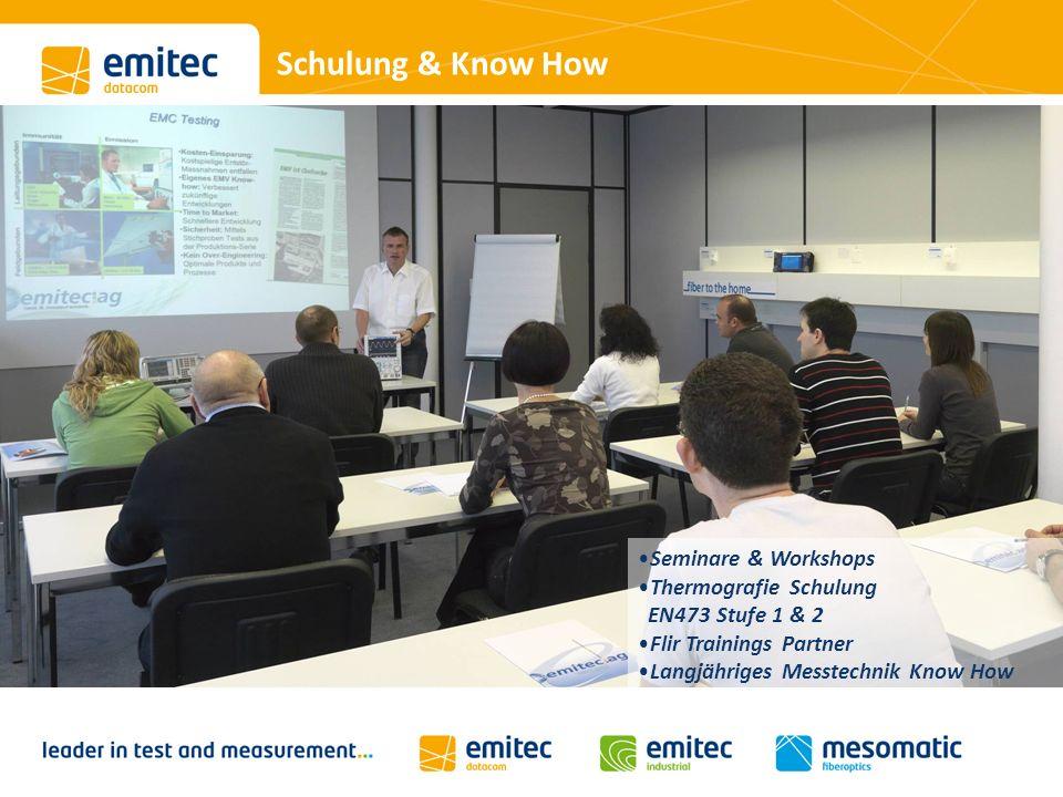 Schulung & Know How Seminare & Workshops Thermografie Schulung EN473 Stufe 1 & 2 Flir Trainings Partner Langjähriges Messtechnik Know How