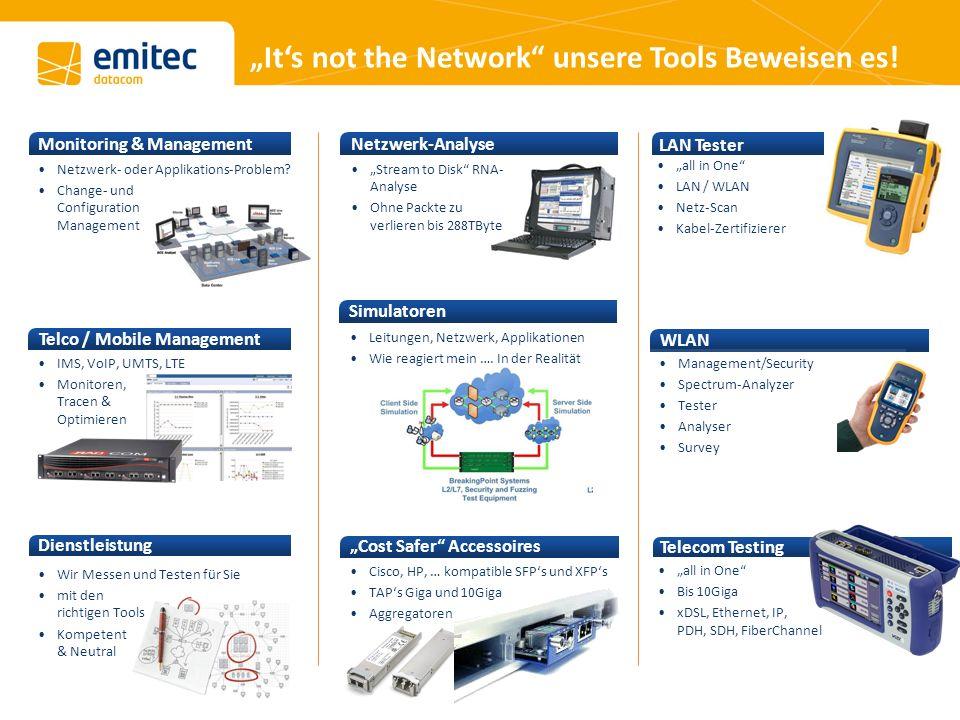 Its not the Network unsere Tools Beweisen es. Netzwerk- oder Applikations-Problem.