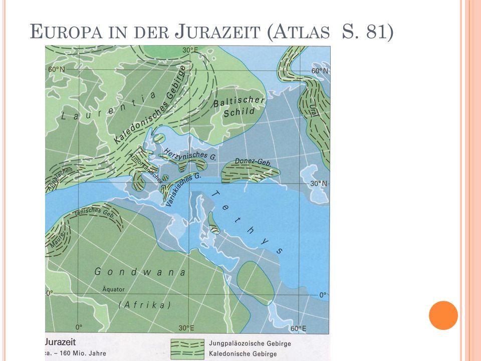 E UROPA IN DER J URAZEIT (A TLAS S. 81)