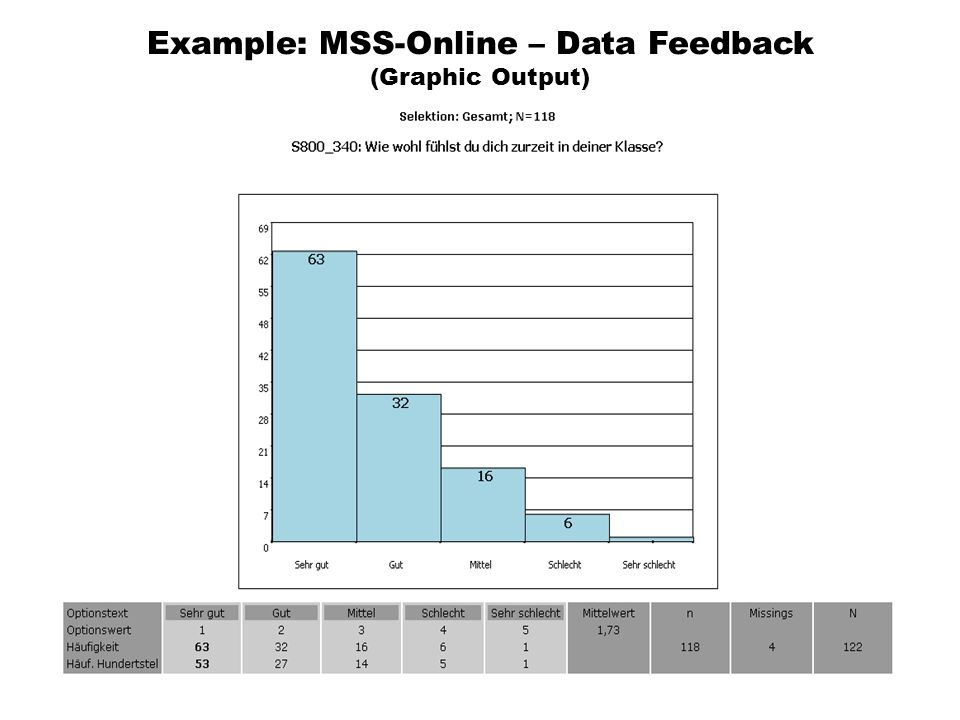 Example: MSS-Online – Data Feedback (Graphic Output)