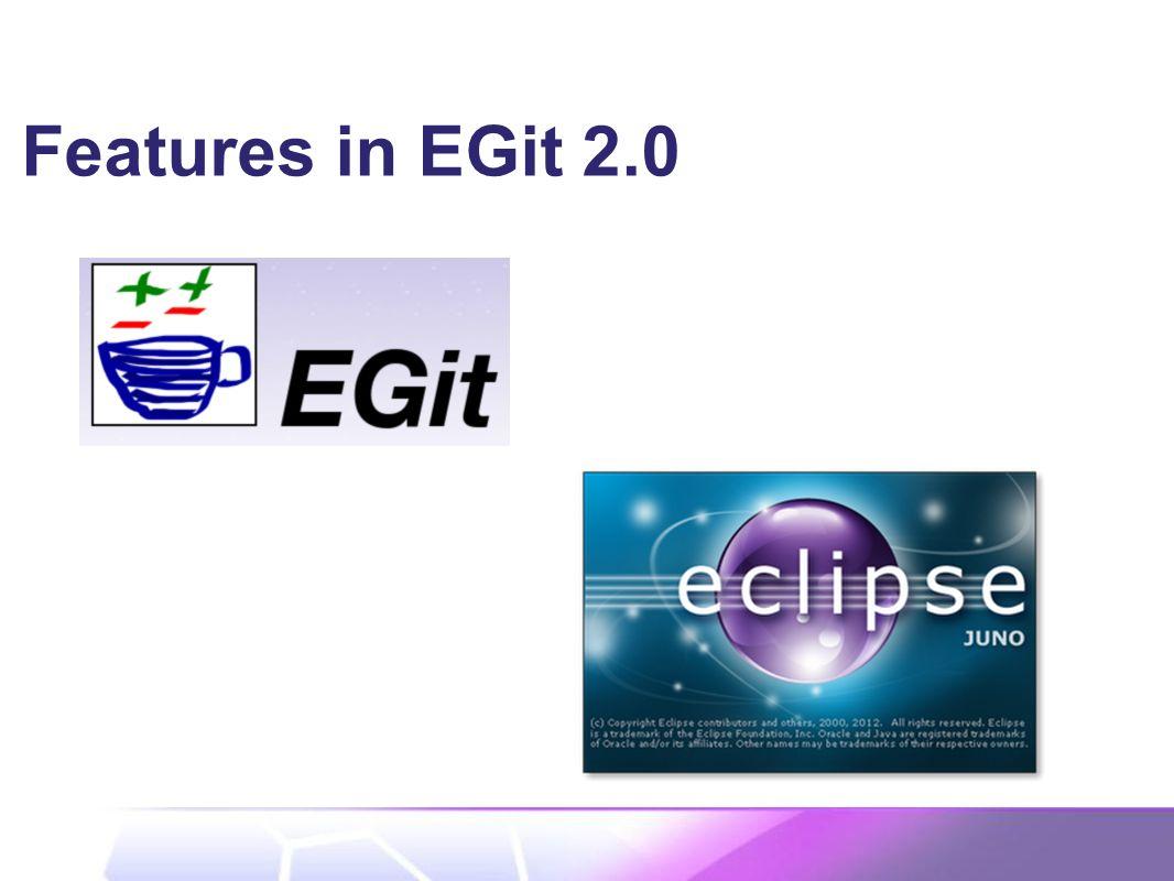 Features in EGit 2.0