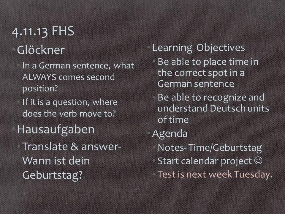 7.11.13 RMS Glöckner Say 5 things you like t do.