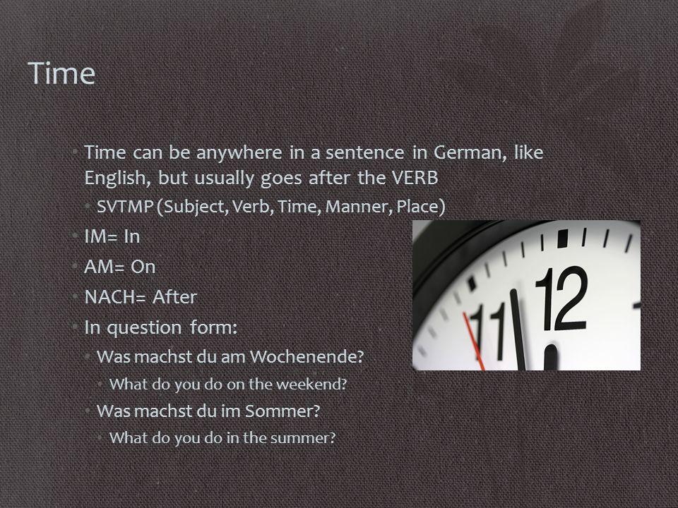 8.11.13 FHS Glöckner Write 5 things you like to do.