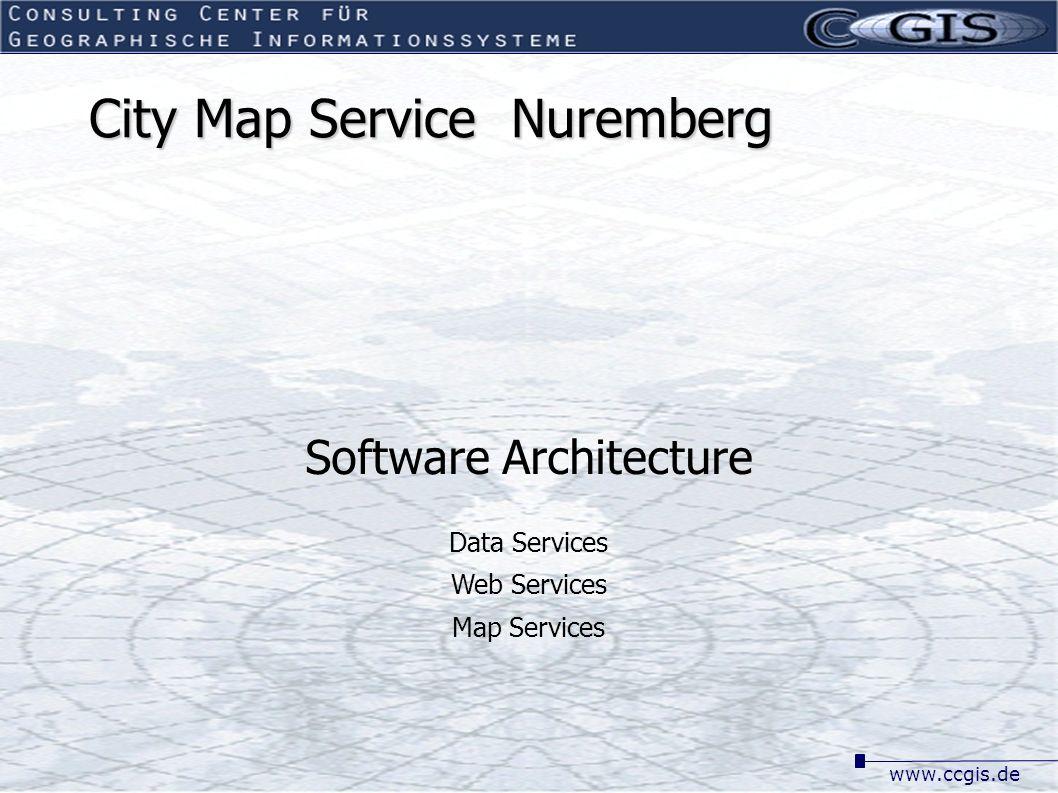 www.ccgis.de City Map Service Nuremberg Software Architecture Data Services Web Services Map Services